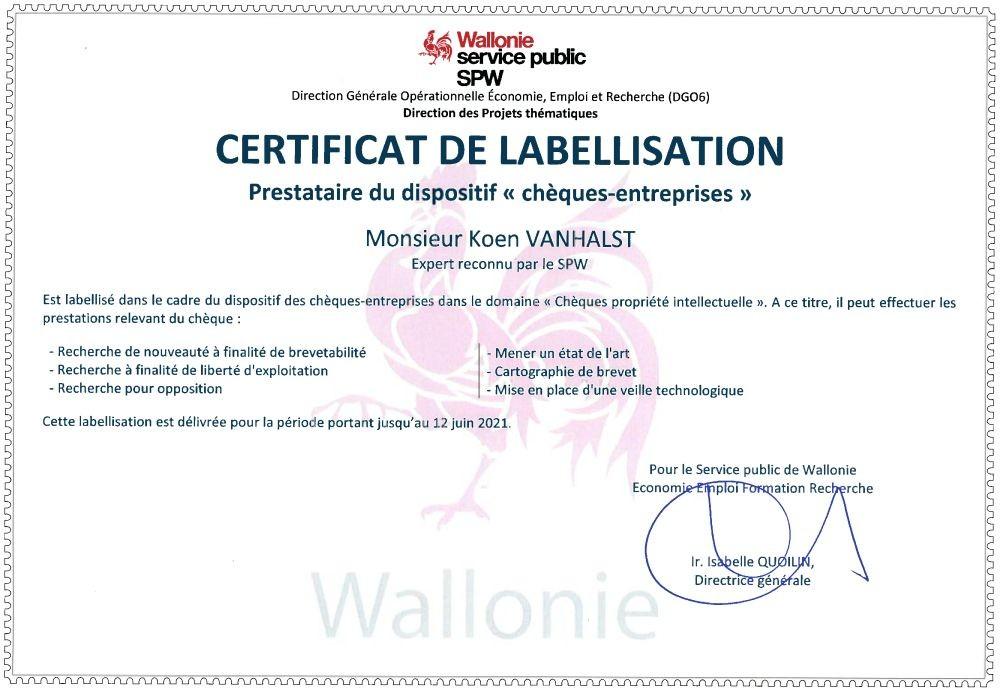 De Clercq & Partners granted label