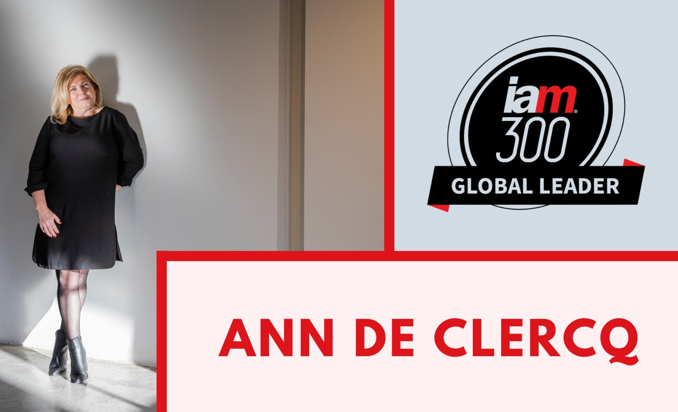 Ann De Clercq named Global Leader by IAM Strategy 300